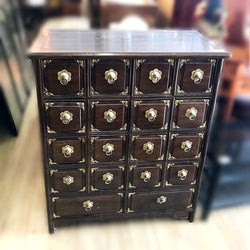 WOODEN MEDICINE CABINET WITH 18 DRAWERS - (Kallang Bahru)