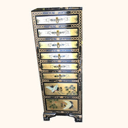 VINTAGE LACQUERED CHEST OF DRAWERS (jewellery)  - (Kallang Bahru)