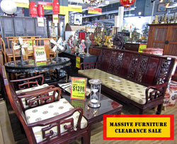 SALE:!! ROSEWOOD LIVING ROOM SET W/ CUSHION - (Kallang Bahru)