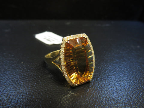 ONLY AVAILABLE OFFLINE - Citrine Ladies Ring