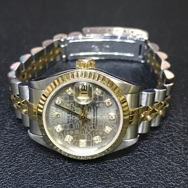 ROLEX HALF GOLD LADIES WATCH (69173) - (Kallang Bahru)