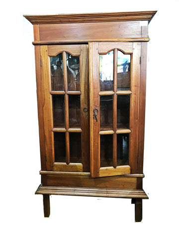 CLEARANCE: TEAKWOOD DISPLAY CABINET - (Kallang Bahru)