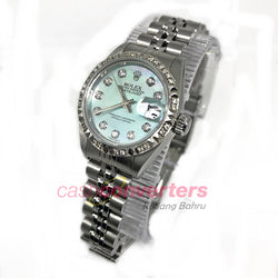 Rolex Ladies Light Blue MOP with Diamonds Watch (69174) - (Kallang Bahru)