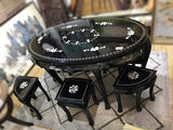 LACQUERED BLACK DINING SET- (Kallang Bahru)