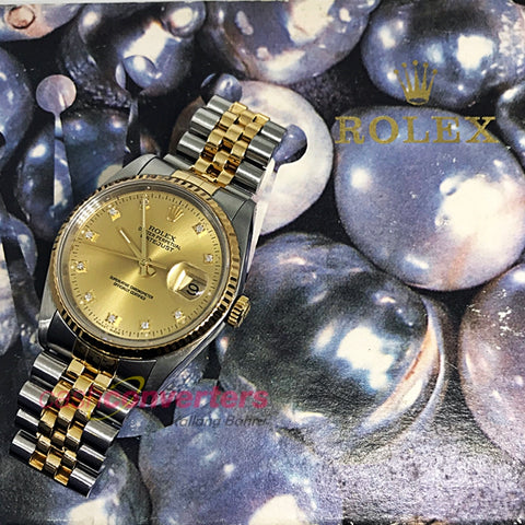 ROLEX HALF GOLD MEN'S WATCH WITH DIAMONDS (16233) - (Kallang Bahru)