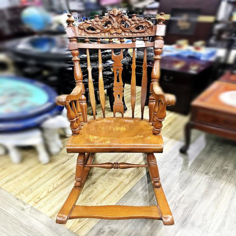 WOODEN VINTAGE ROCKING CHAIR- (Kallang Bahru)