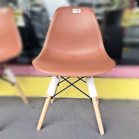 BROWN CHAIR WITH WOODEN LEGS - (Kallang Bahru)
