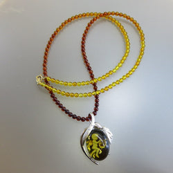 18kt Amber Diamond Necklace (Chinatown)
