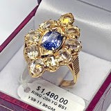 20K Yellow Gold with Blue and Yellow Sapphire RING - (Kallang Bahru)