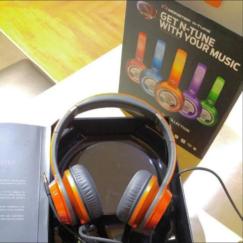 MONSTER On-Ear Headphones Candy Tangerine Orange NCredible NTune