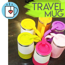 Online - Travel Mugs in Assorted Colours