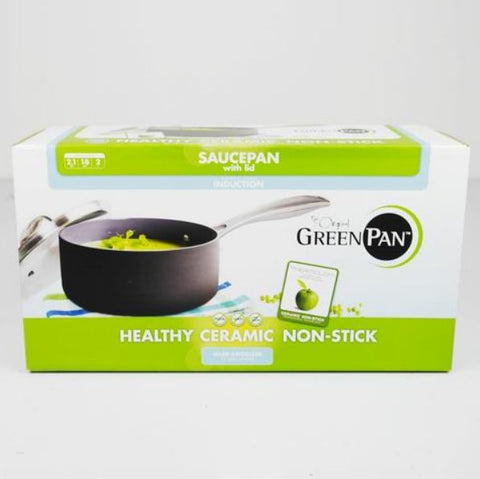 Online - GREEN PAN Saucepan with Lid 18cm