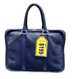 Loewe Blue Suede Document Bag - (Kallang Bahru)