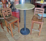 ROUND BAR TABLE WITH 2 STOOL - (Kallang Bahru)