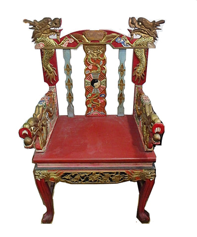 TEMPLE DRAGON - CARVED CHAIR - (Kallang Bahru)