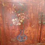 SALE: VINTAGE HAND PAINTED 2 DOOR CABINET - (Kallang Bahru)