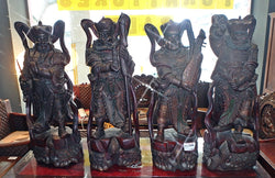4 HEAVENLY KING ANTIQUE DISPLAY ORNAMENT -TALL - (Kallang Bahru)