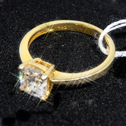 GIA Certified 750 Yellow Gold with 0.74Carat Solitaire Diamond Ring - (Kallang Bahru)