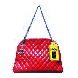 CHANEL Red Patent Diamond Quilted Bag - (Kallang Bahru)