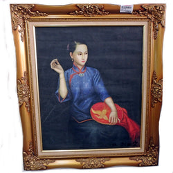 Oil Painting Of Chinese Lady Embroidery - (Kallang Bahru)