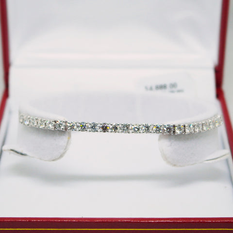 BRACELET WITH 750 WHITE GOLD