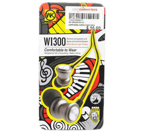 BRAND NEW WK DESIGN WI300 IN-EAR EARPHONES (GOLD)