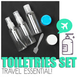 Online - Travel Toiletries Bottle Set Of 6 - Brand New (Available On Cash Converters Online)