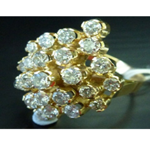 ONLY AVAILABLE OFFLINE - Diamond Embellished Gold Ring