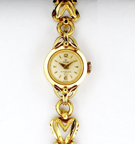 Rare Vintage 18K Yellow Gold Titoni Winding Watch   (Toa Payoh)