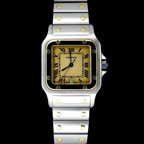 Cartier Santos Half Gold complete with Box and Cards  (Toa Payoh)