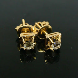 20K yellow Gold Diamond Earring