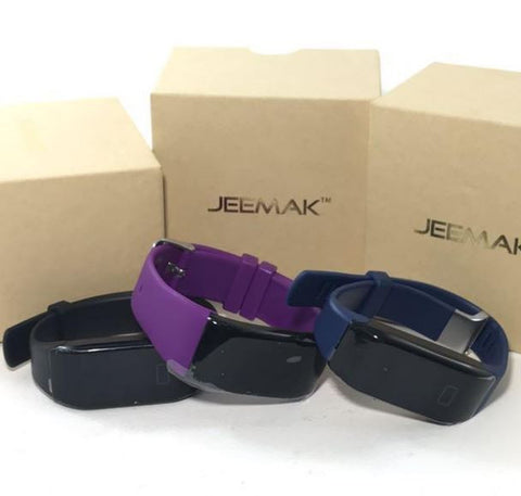 ONLY AVAILABLE OFFLINE - Jeemal fitness band in 3 colours to choose from.