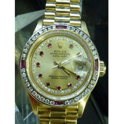 ONLY AVAILABLE OFFLINE - Rolex Oyster Perpetual Ladies Watch With Diamond Embellishment