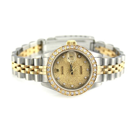 ONLY AVAILABLE OFFLINE - Ladies Rolex watch with diamond dial. Model -69173
