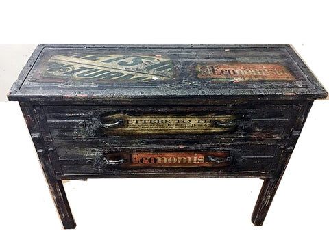 VINTAGE LOOKING TABLE WITH DRAWERS - (Kallang Bahru)