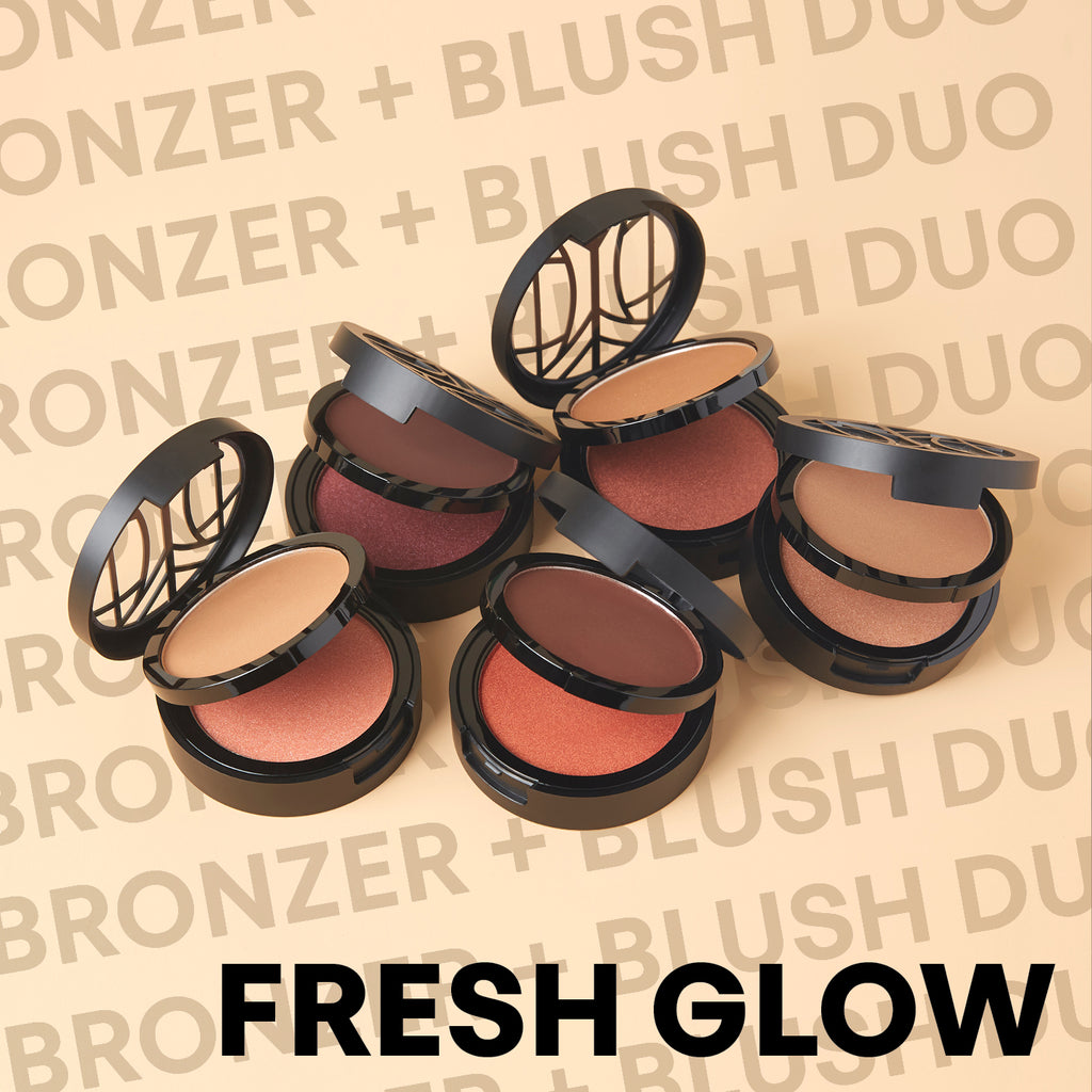 The Lip Bar Fresh Glow 2 Layer Bronzer + Blush Compact