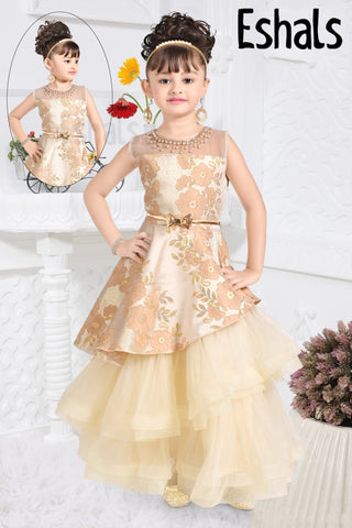Eshals Stylish Western Partywear-Cream -270