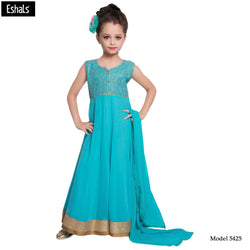 Eshals Eye Catchy SkyBlue Churidar Suit -5425