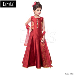 Eshals Long Gown Partywear-Pink -5462