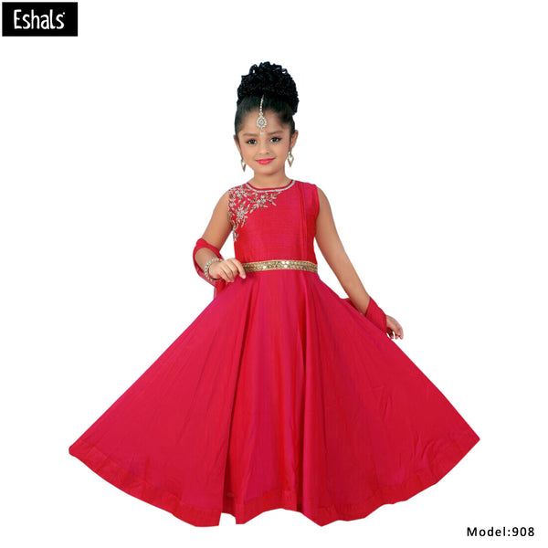 Eshals Red Gown Fit & Flare Dress-908