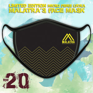 Two Layers Face Mask (with filter pocket) – Malatra (Black) Design