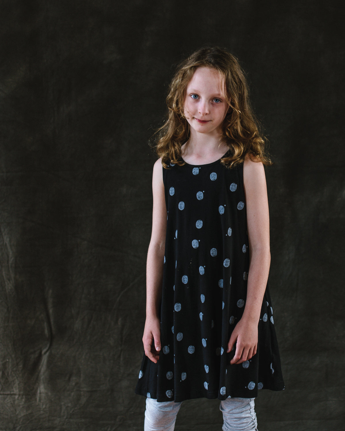 Spotty Print Swing Dress