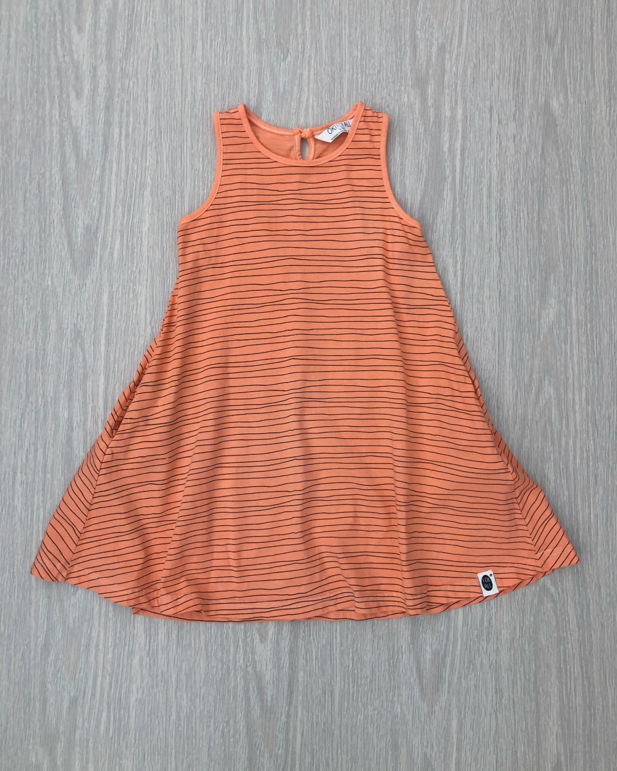Milla's Striped Swing Dress Coral