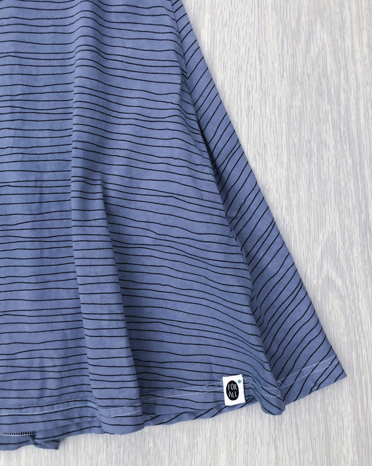 Milla's Striped Swing Dress Blue Grey