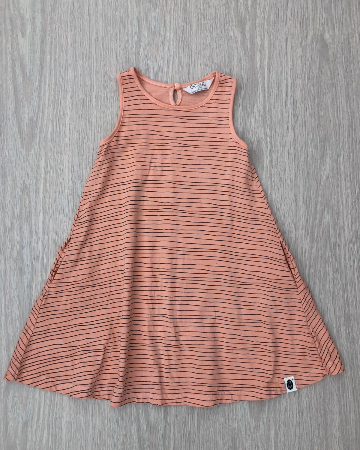 Milla's Striped Swing Dress Peach