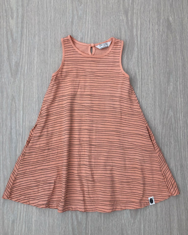 Milla's Striped Swing Dress Mustard