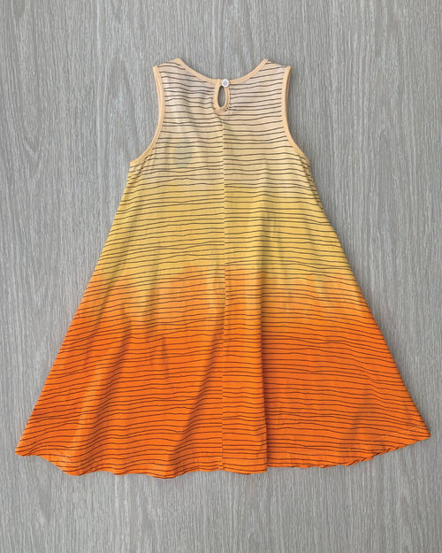 OKI Sunrise Swing Dress Orange