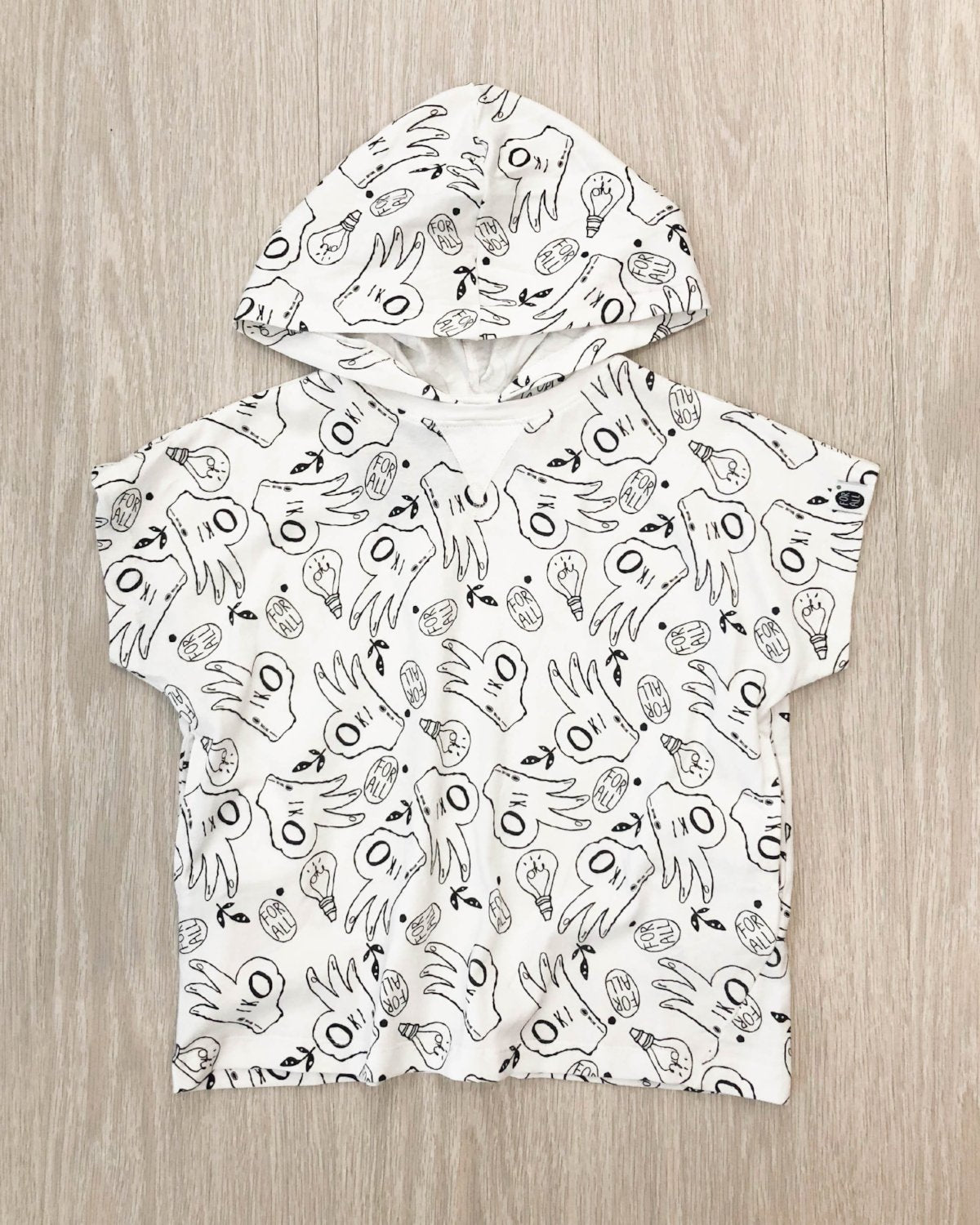 Put it Over Hooded Tee White