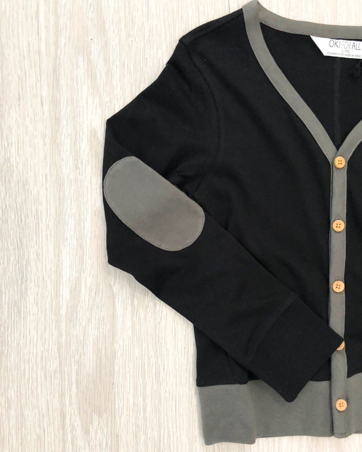 Organic Cotton Cardigan detail kids fashion OKI