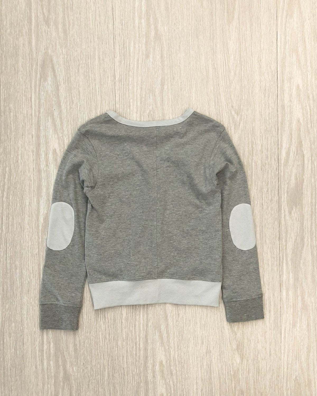Organic Cotton Cardigan grey marle back kids fashion OKI